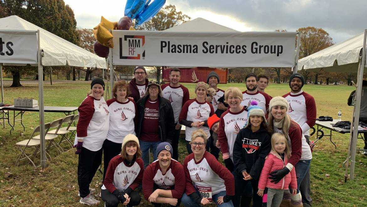 PSG RAISES OVER 10K FOR THE MULTIPLE MYELOMA RESEARCH FOUNDATION